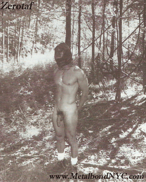 chained up in the woods