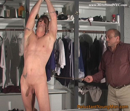 RC Ryan is a spanked athlete at Reluctant Young Men