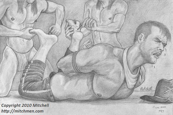Mitchell Mitchmen gay bondage artwork