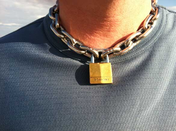 Metalbond in chain collar