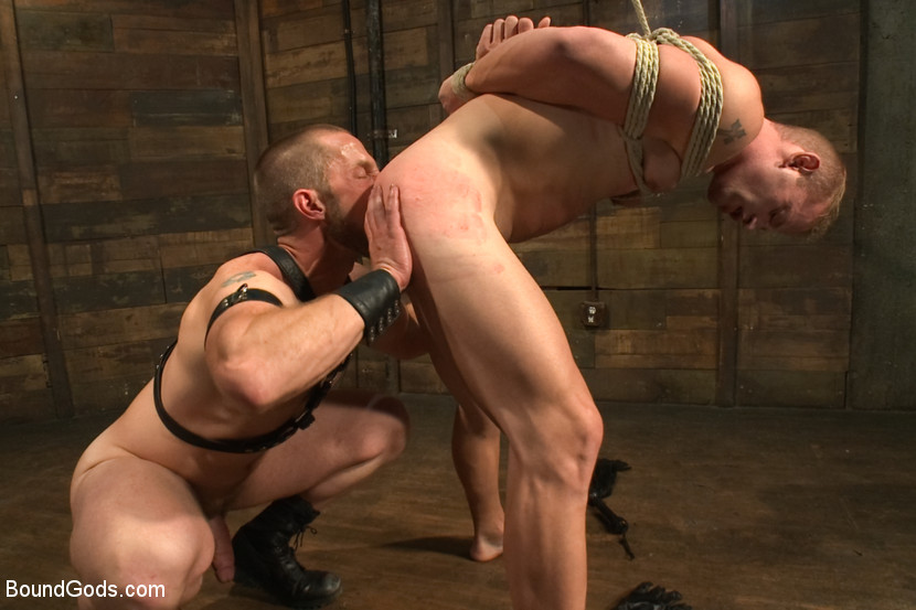 Patrick is fucked by Adam's fat cock and the once reluctant slave begs for his master's cum