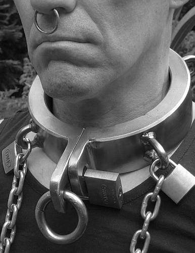 men with chains and collars locked on 10