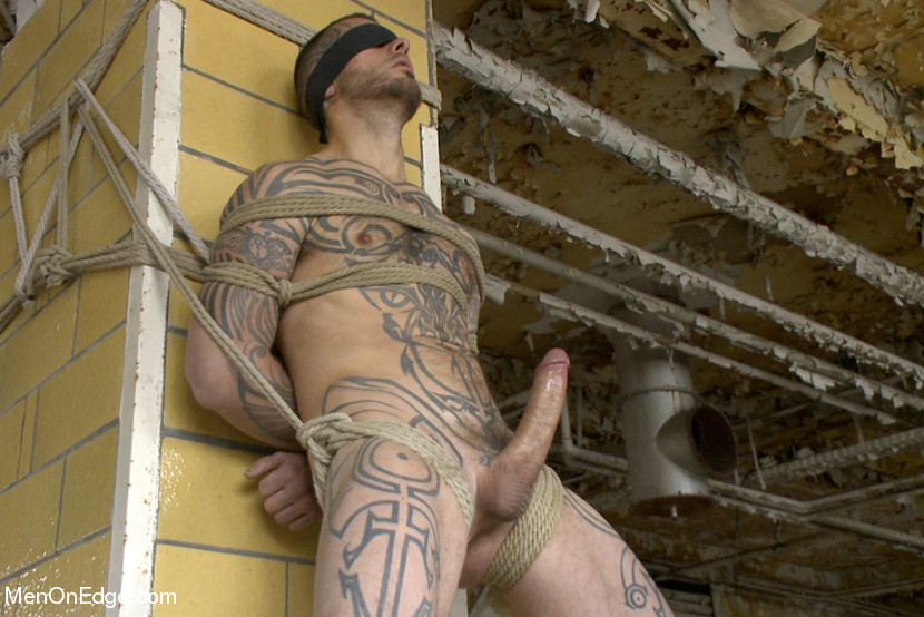 The world-famous Logan McCree gets tied up, suspended, flogged and edged!