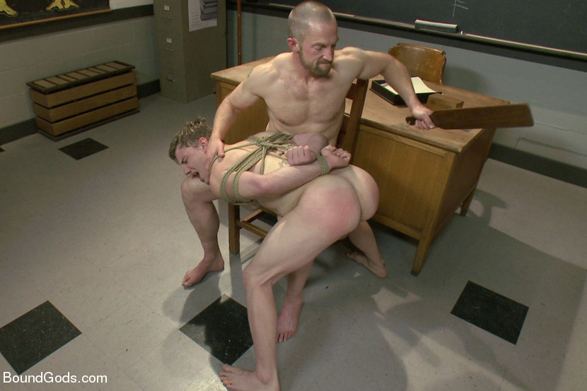 Doug Acre gets bound and fucked by his hot biology teacher Mr. Herst