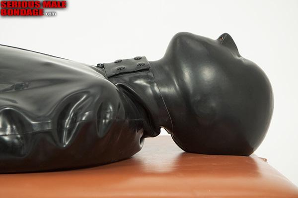 rubber sleepsack bondage