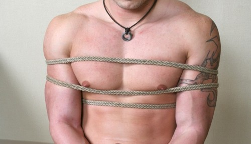 Tough guy tied up