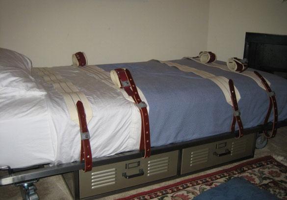 bondage bed spreads
