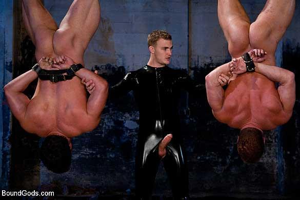 Cop bonks the leather bottom