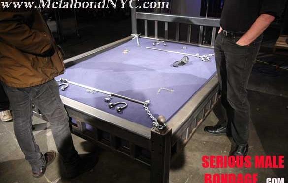 Jamie in locking metal bondage