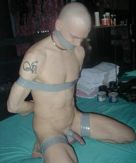 Shaved gay slave