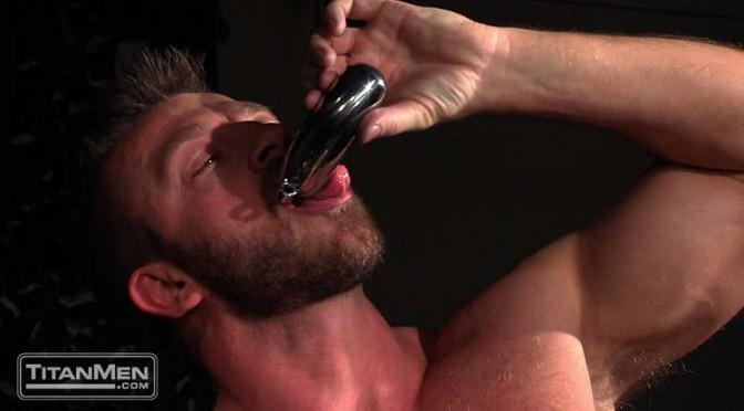 Hunter Marx and Dirk Caber play with a Stainless Steel Chastity Cock Cage