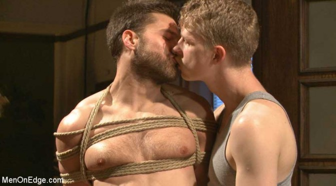 Bound Abel Archer cums without even touching his cock