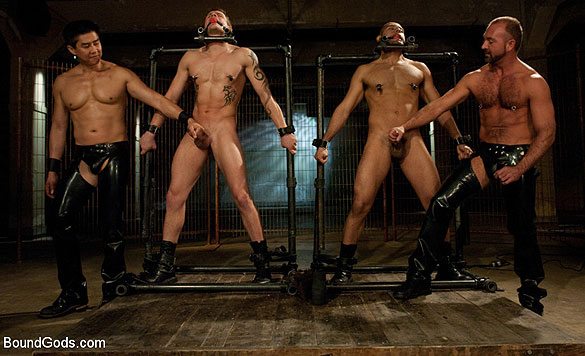 Leo and trent in very extreme gay porn bondage