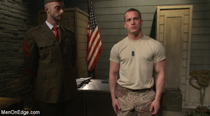 A soldier gets edged by his commanding officers