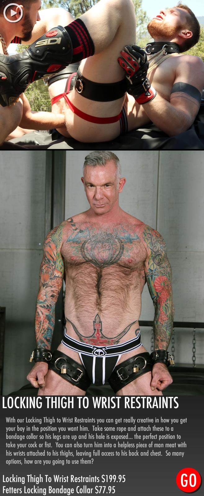 Gay_Bondage_Locking_Thigh_to_Wrist_Restraints