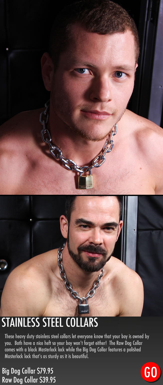 gay_bondage_Big_Dog_Stainless_Steel_Collar