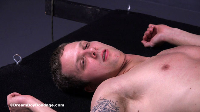 Marshall is brutally flogged on his chest and abs