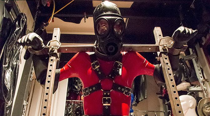 Metal chains straitjackets leather rubber