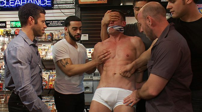 Porn shop action from Bound In Public