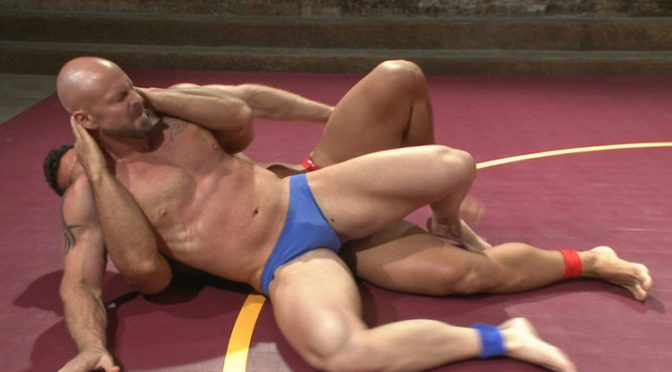 Marcus Ruhl vs. Mitch Vaughn: Muscle bondage wrestling