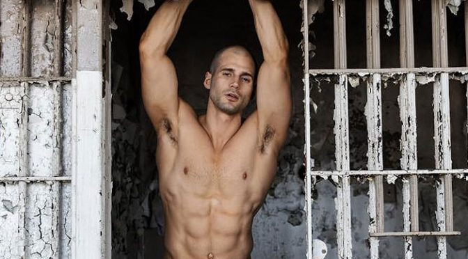 Todd Sanfield photographed at an abandoned jail
