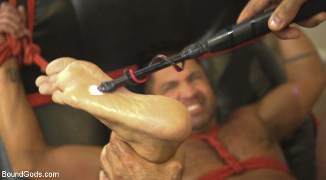 Dominic Pacifico and Ali Liam enjoy a bondage fuck session