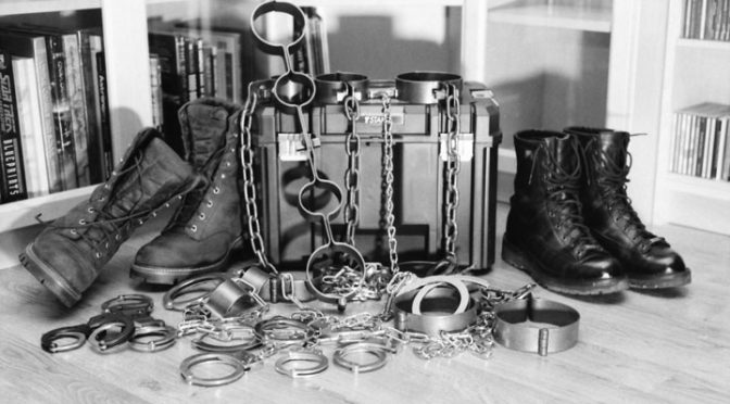 Pictures: Sneaker Boy's heavy manacles