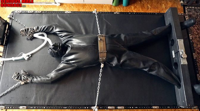 Pictures: SiFi leather hood and heavy spread-eagle