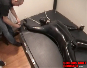 Rubber dude bolted down