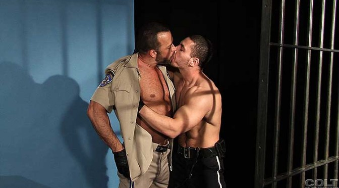 Marc Dylan and Nate Karlton fuck in a holding cell