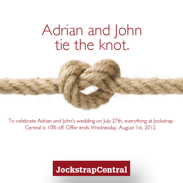 Tie the knot at Jockstrap Central