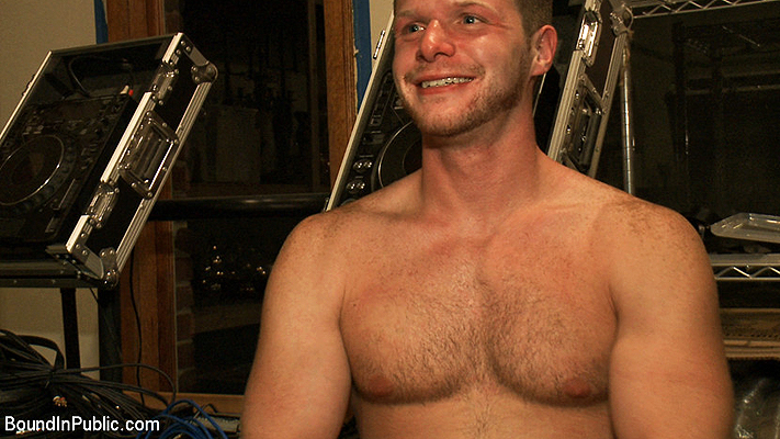 He sure is happy after being tied up and sexually used