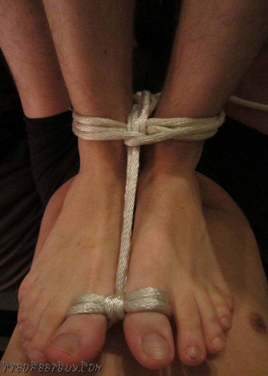 Baring My Soul tied up feet tied up toes