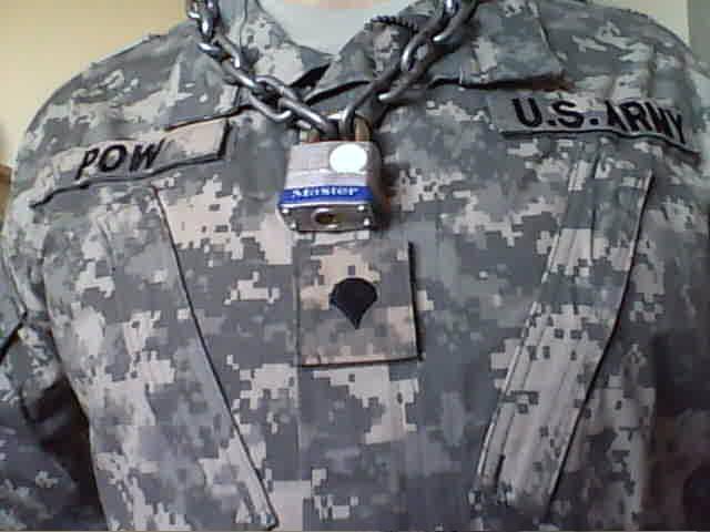 POW chain collar with padlock