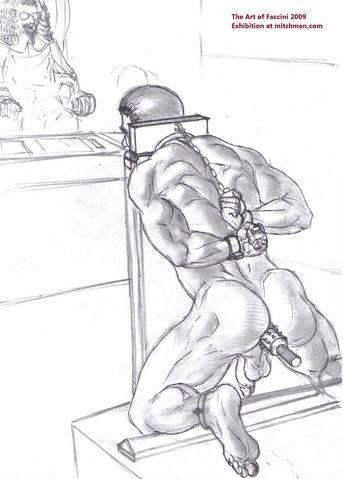 Metalbond stress position bondage 03