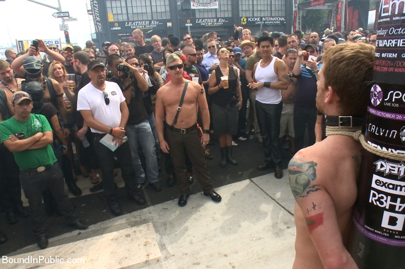 Sebastian Keys is put through the paces as he's edged, zapped, and gets his balls yanked in front of the cheering crowd