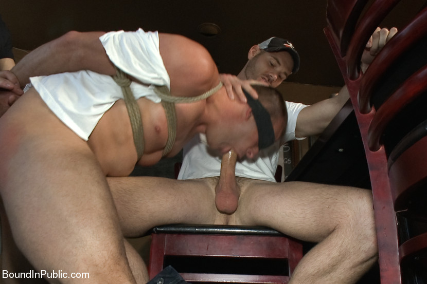 Sebastian Keys brings in his tied up friend, Everett Jagger