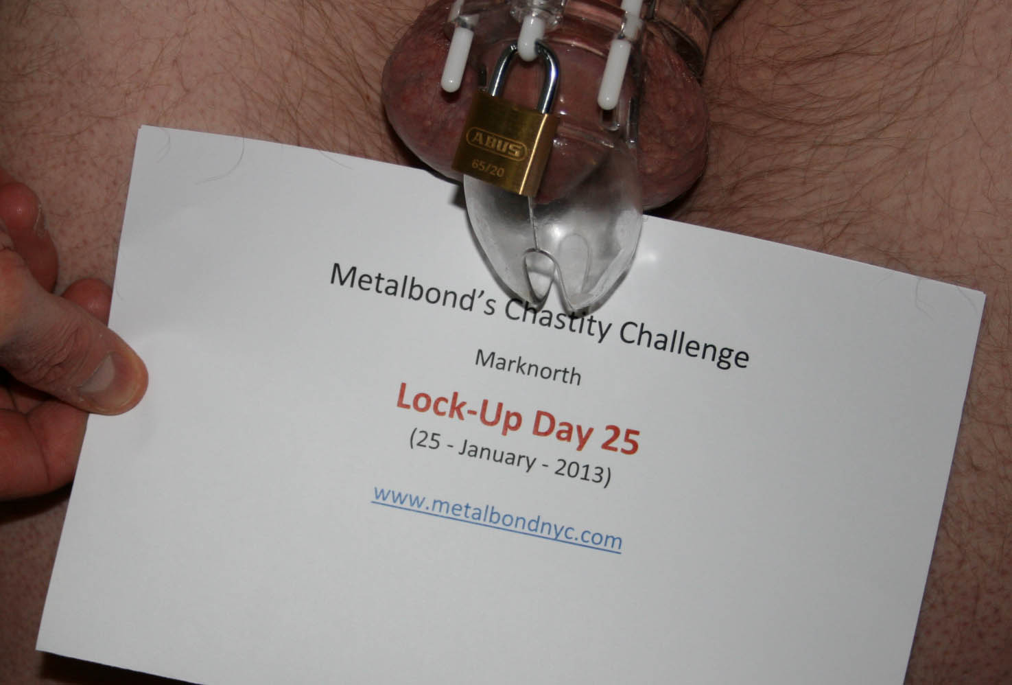 Marknorth locked in chastity