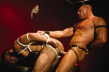 Falcon gay porn sucking and fucking in bondage