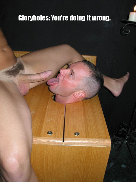 boxed cocksucker glory hole