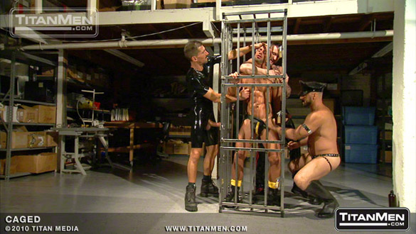 Aymeric DeVille, Gio Forte, Mark Bartos, Billy Berlin, David Anthony and Tibor Wolfe in Caged