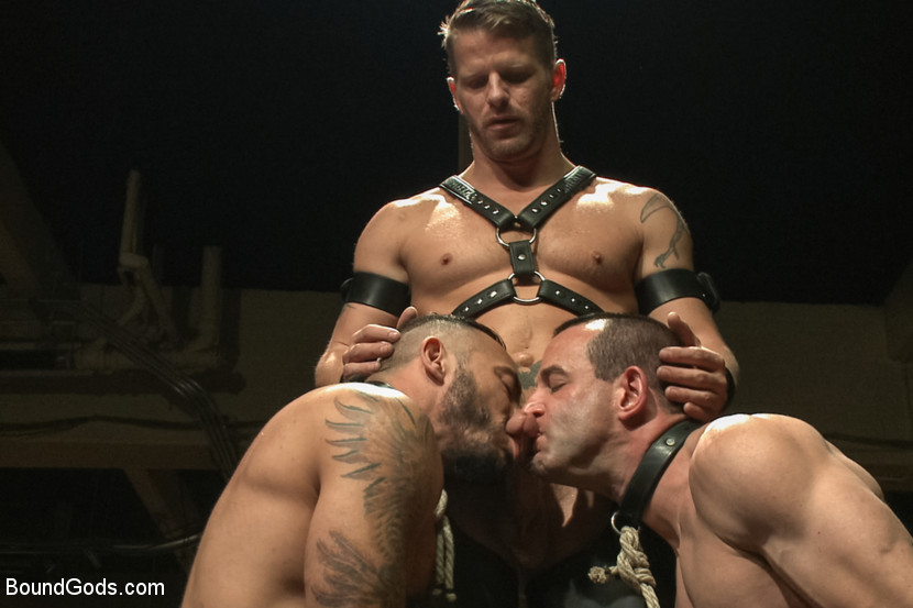 Jeremy Stevens takes Jason Miller and Alessio Romero to the extreme during a live bondage show