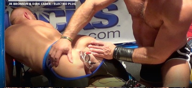 Dirk Caber electrifies Bound Jock JR Bronson at IML