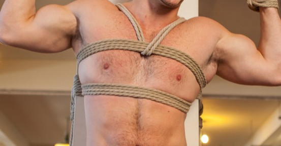 Rex Wolfe, Angel Rock and Jay Cloud all get tied up and edged