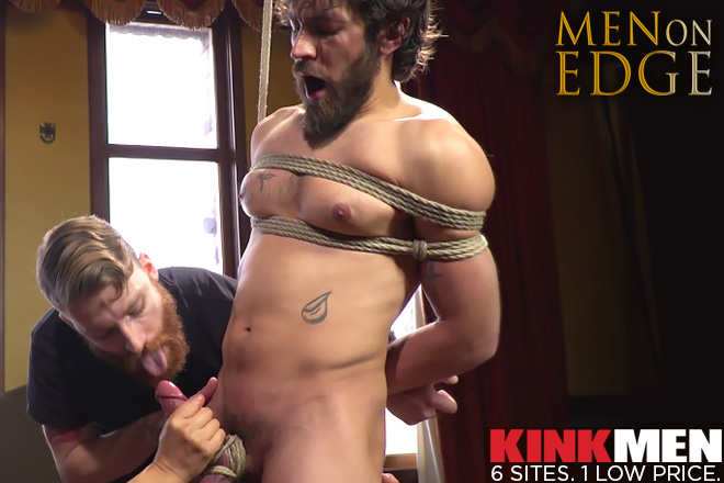gay bondage bdsm muscle edging jacking off
