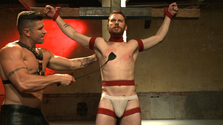 The male BDSM action depicted at Bound Gods