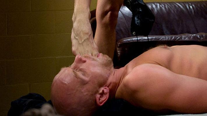 Foot licking and humiliation