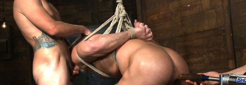 Dirk Caber and Connor Maguire are two of the latest porn stars to get tied up and edged at the popular 'Men on Edge' site