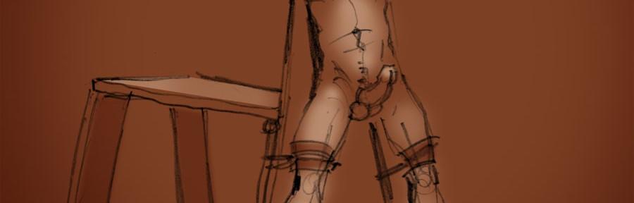 The gay erotic bondage artwork of BLACKSMITH