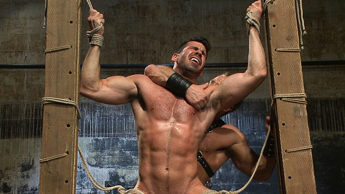 Pictures: Billy Santoro tied up and fucked by Dirk Caber
